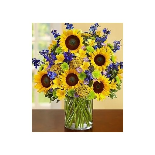 "Our ""Sigh High"" Sunflower Bouquet"
