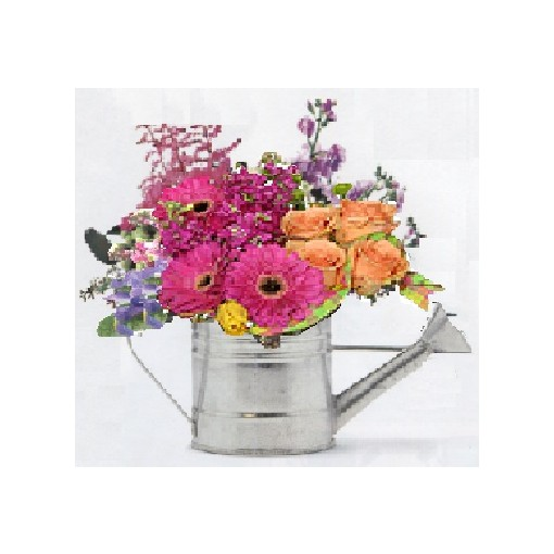 "A ""Huge"" Watering Can Bouquet"