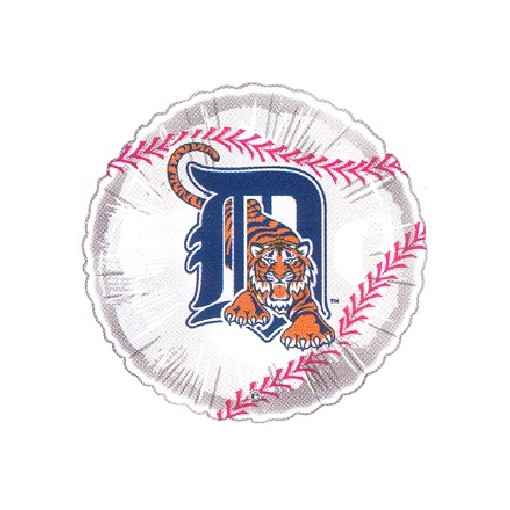 """Detroit Tigers"" Baseball Mylar Balloon"