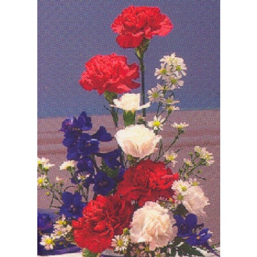 "Our ""Red, BRIGHT & Blue"" Bouquet"