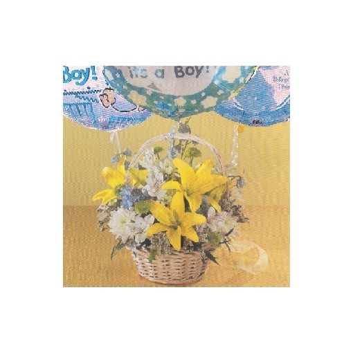 "A Baby Boy ""Twinkle Toes"" Basket"