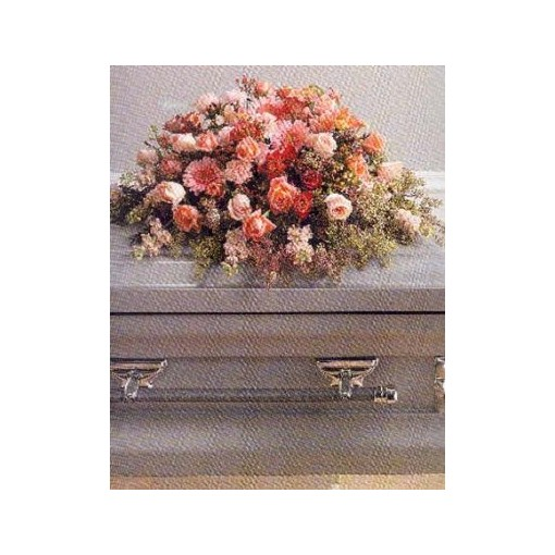 Pastel Opal Offerings Casket Cover