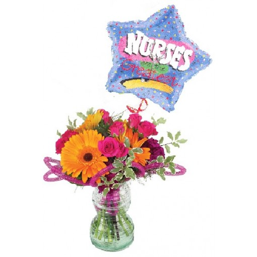 """Dynamic Twist to Nursing"" Bouquet"