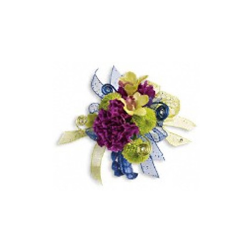 """Evening Electric"" Wrist Corsage"