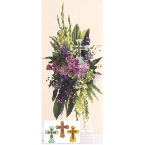 Keepsake Cross Standing Spray
