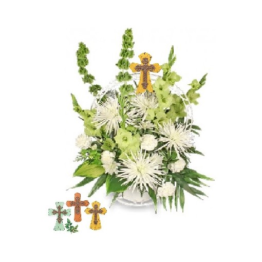 Keepsake Cross Funeral Basket