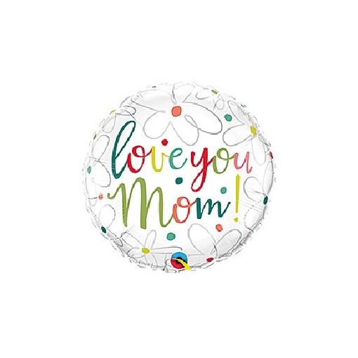 """""""Love You Mom"""" Mylar Balloon"""