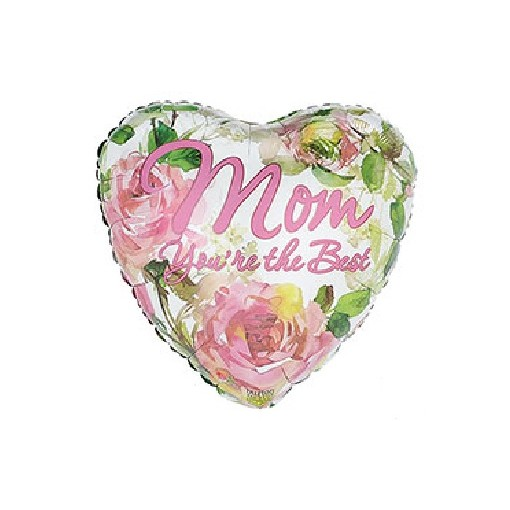 """Best Mom"" Mylar Balloon"