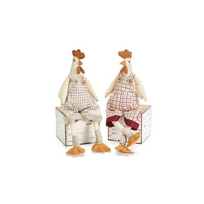 Fabric ROOSTER Shelf-sitter Plush