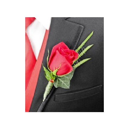 "Boutonniere - ""Royale Rose"""