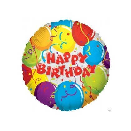 Colorful Birthday Mylar Balloon