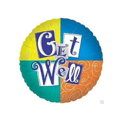 Colorful Get Well Mylar Balloon