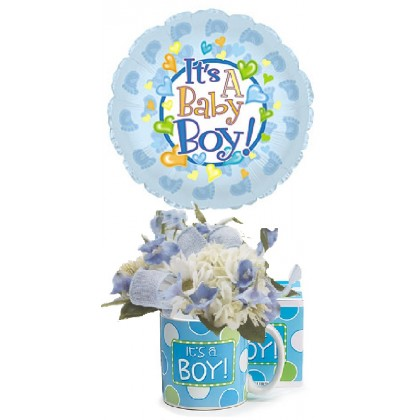 Very Sweet Baby Boy Bouquet