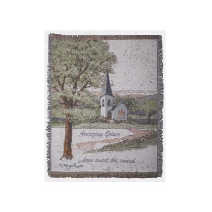 """Amazing Grace"" Woven Fabric Throw"