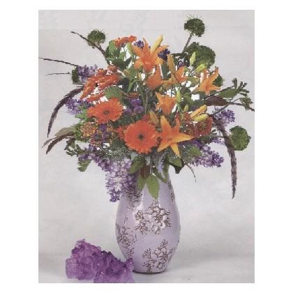 """""""Fall Lavender Sunsets"""" Vase"""