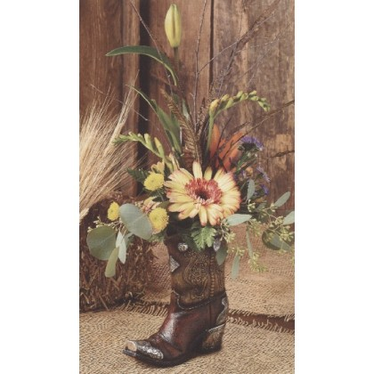 """Kick'n Fall"" Boot Bouquet"