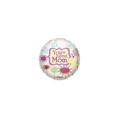 """Mom"" Mylar Balloon"