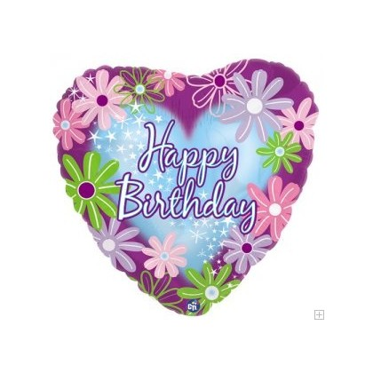 """Pretty and Feminine"" Birthday Mylar Balloon"