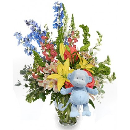 "Our ""Pretty Happy...with Toodles""  Baby Boy Bouquet"