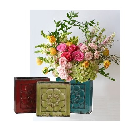 """Our """"SanJose Embossed Pottery"""" Bouquet"""