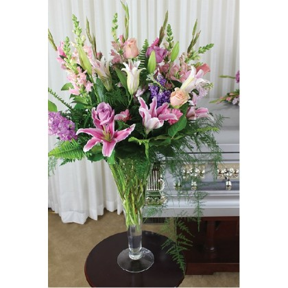 """Beautiful Love Strengthens All"" Vase Arrangement"