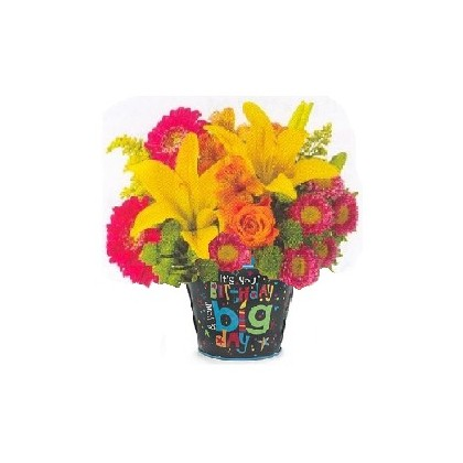 """Our """"Birthday Pail"""" Bouquet"""