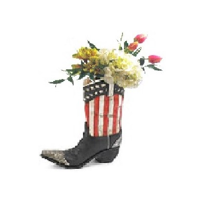 "Our ""Patriot Guy"" Cowboy Boot Bouquet"