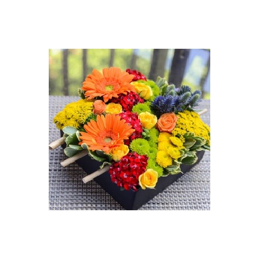An Early Market Square Bouquet