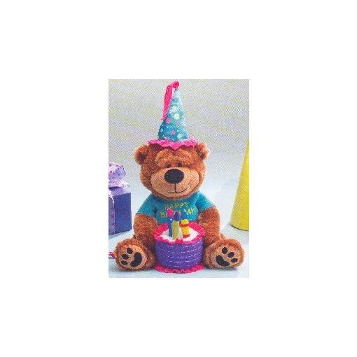 Colorful Birthday Musical Teddy Bear