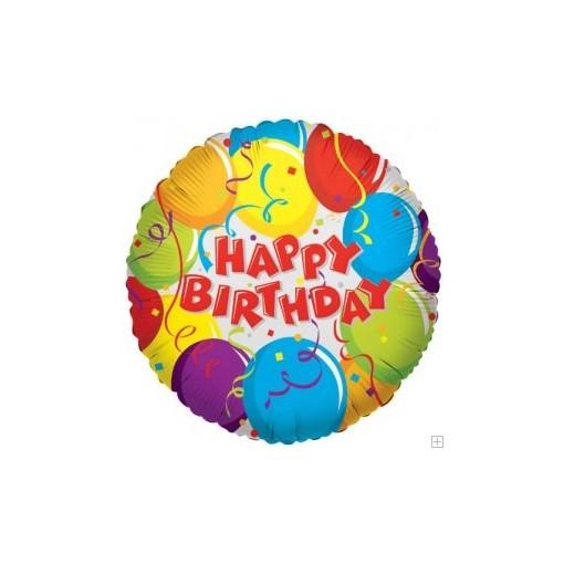 Colorful Birthday Mylar Balloon