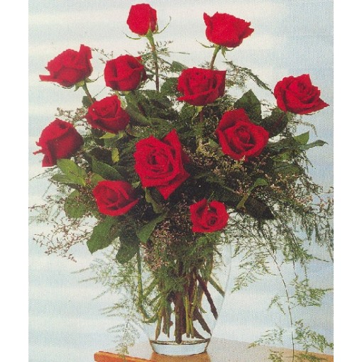 "A ""Dazzling Dozen"" Rose Arrangement"