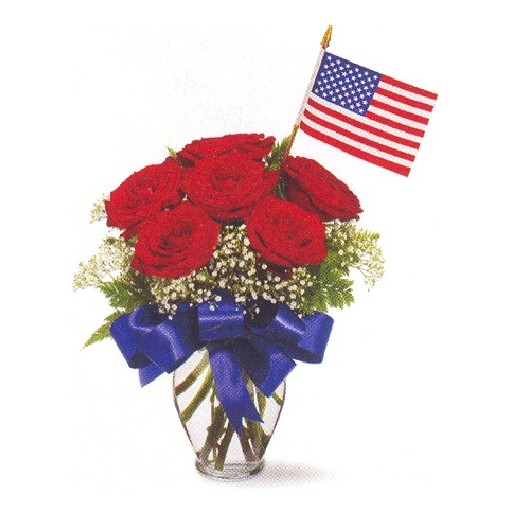 "Our ""Star Spangled Rose"" Bouquet"