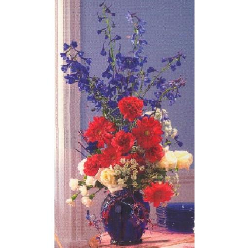 Patriotic Blue Vase