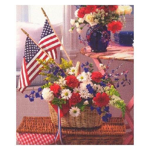 Patriotic Home Basket