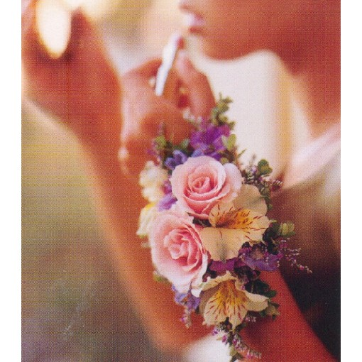A Spring Floral Wrist Corsage