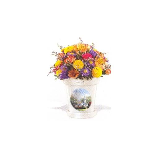 Thomas Kinkade Amazing Grace Flowerpot