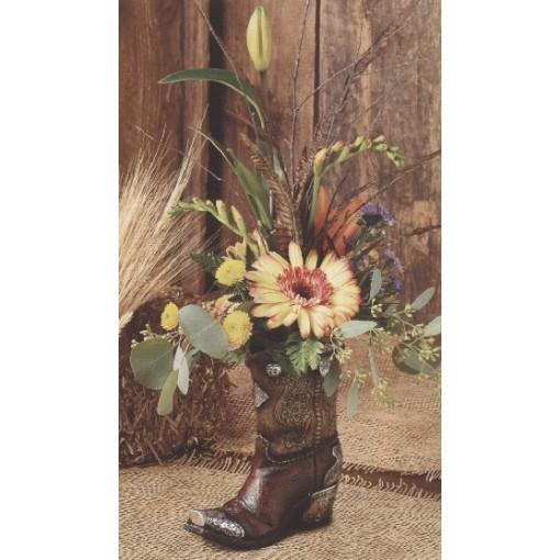 """Kick'n Fall"" Boot Bouquet"