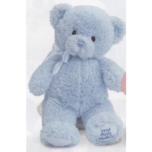 """My First Teddy"" Plush Blue Bear"