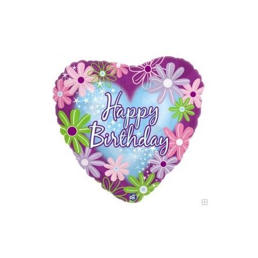 """Pretty and Feminine"" Birthday Mylar Balloon"