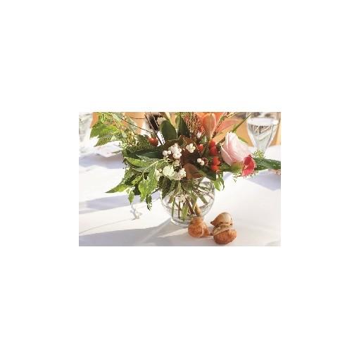 "Our ""Magnolia Winter Magic"" Centerpiece"