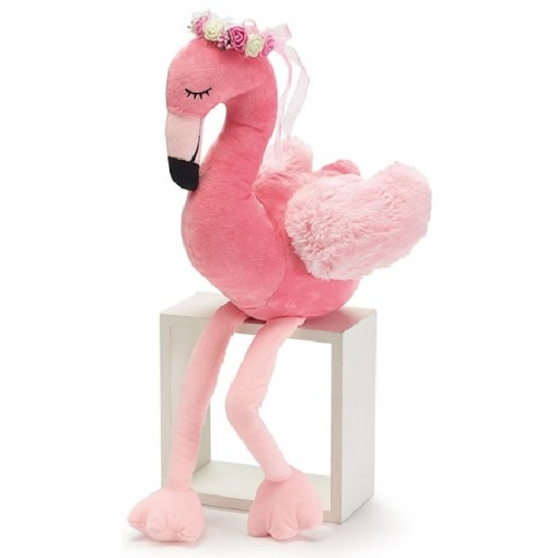Pink Flamingo with Flower Crown Plush Gift