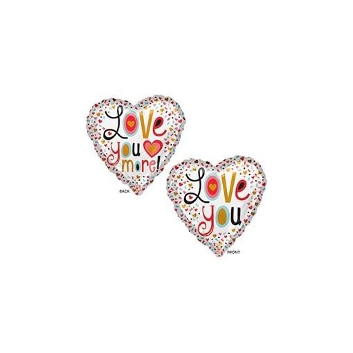 """Love You More"" Mylar Balloon"