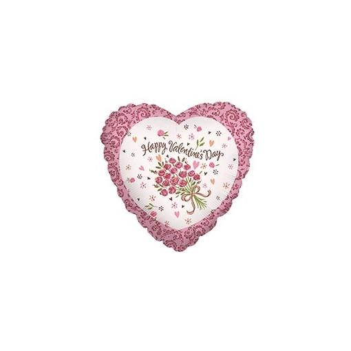 "Pretty ""Happy Valentine's Day"" Mylar Balloon"