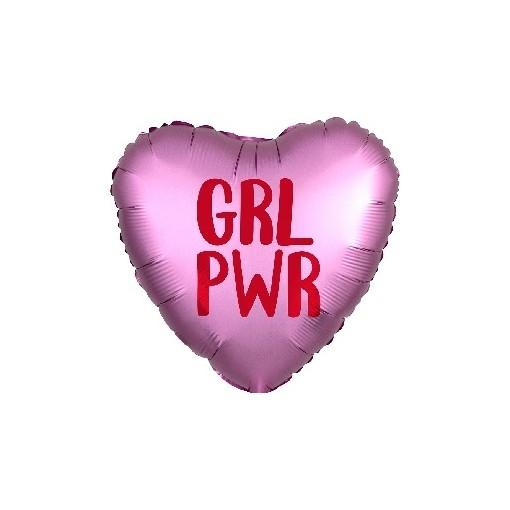 """GRL PWR"" Girl Power Mylar Balloon"