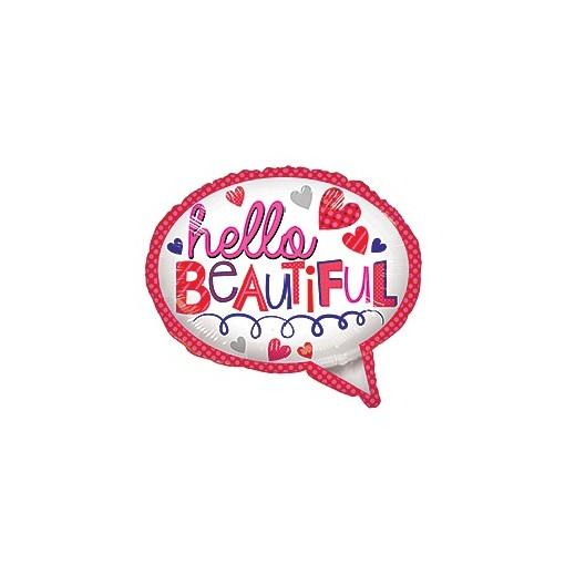 """""""Hello Beautiful"""" Mylar Balloon"""