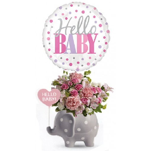 Teleflora's Hello Baby Girl Elephant