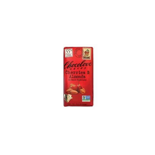 ChocoLove Cherry Almonds Dark Chocolate Bar
