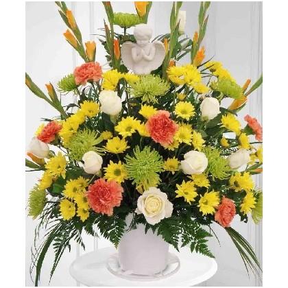 Angel Funeral Basket