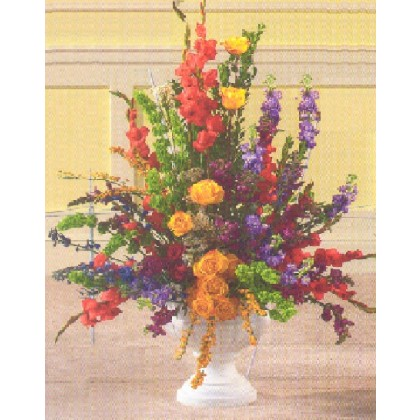 Colorful Memorial Urn
