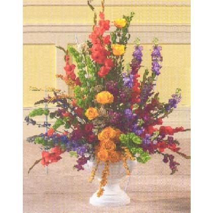 Colorful Memorial Urn